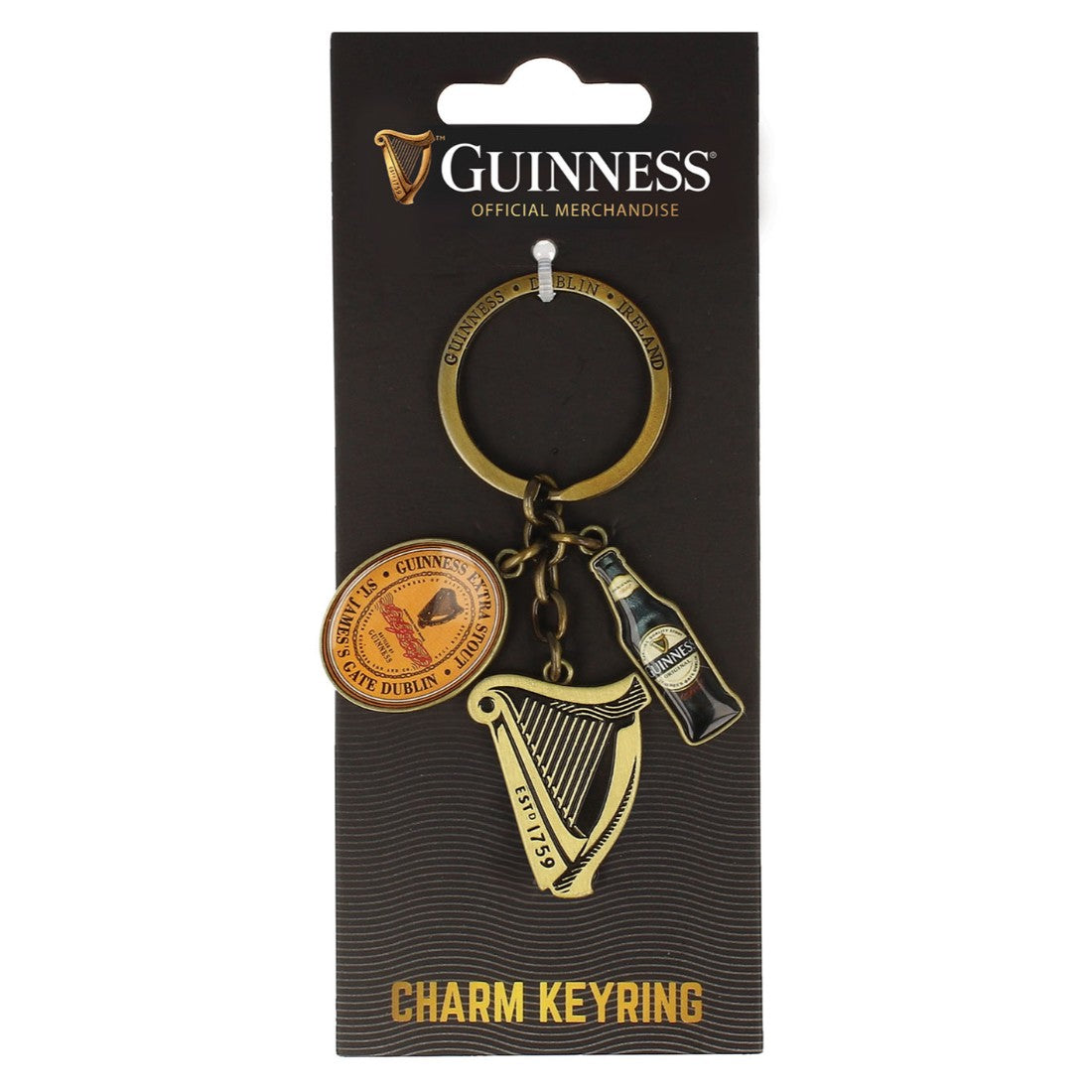 Guinness Charm Key Rings