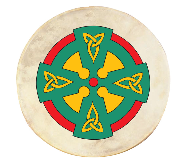 Celtic Cross Bodhran (Irish Drum)