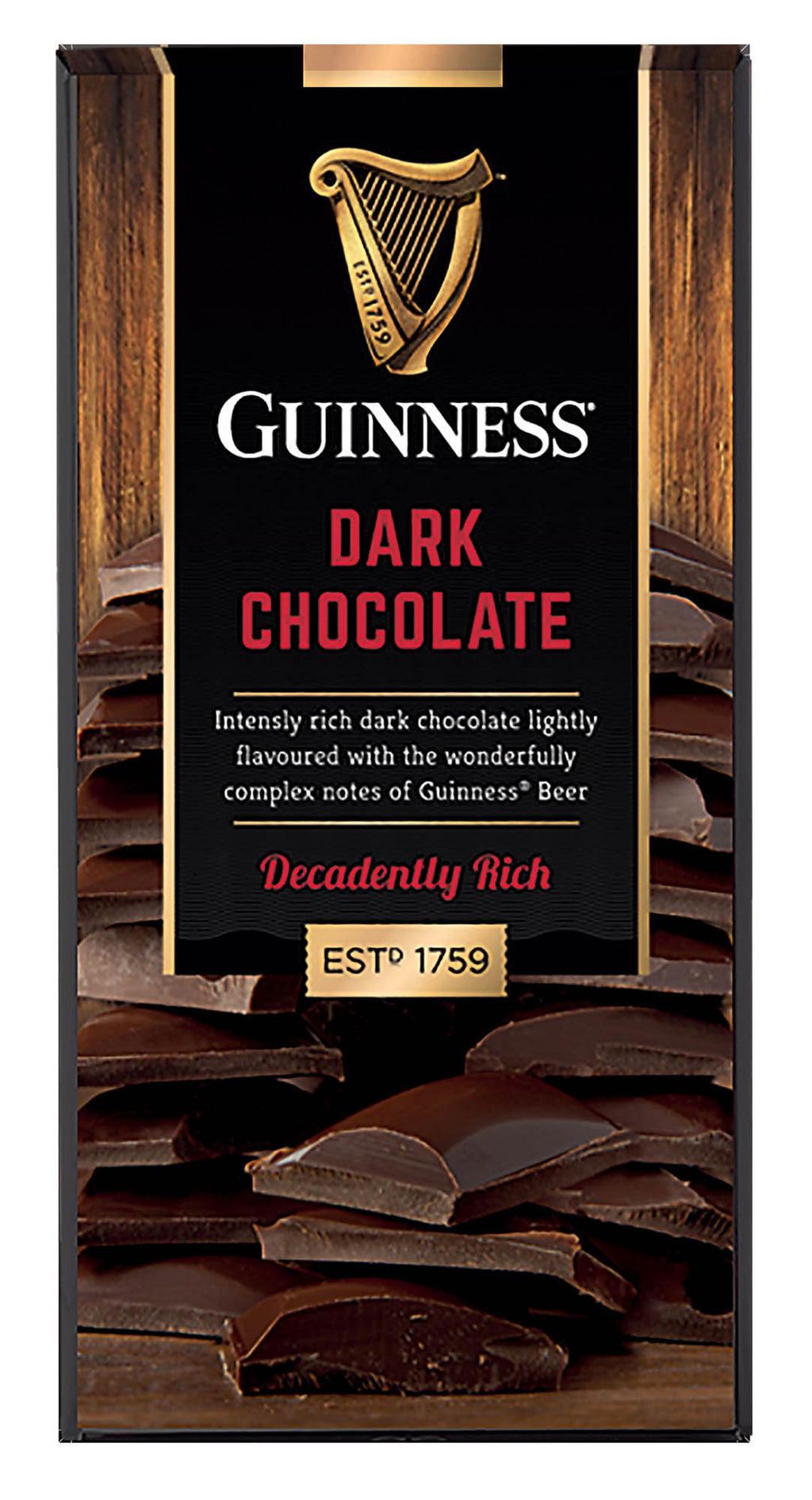Guinness 90g Chocolate bar,  3 varieties