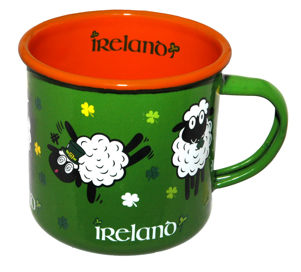 Enamel Mug - Ireland Green Sheep