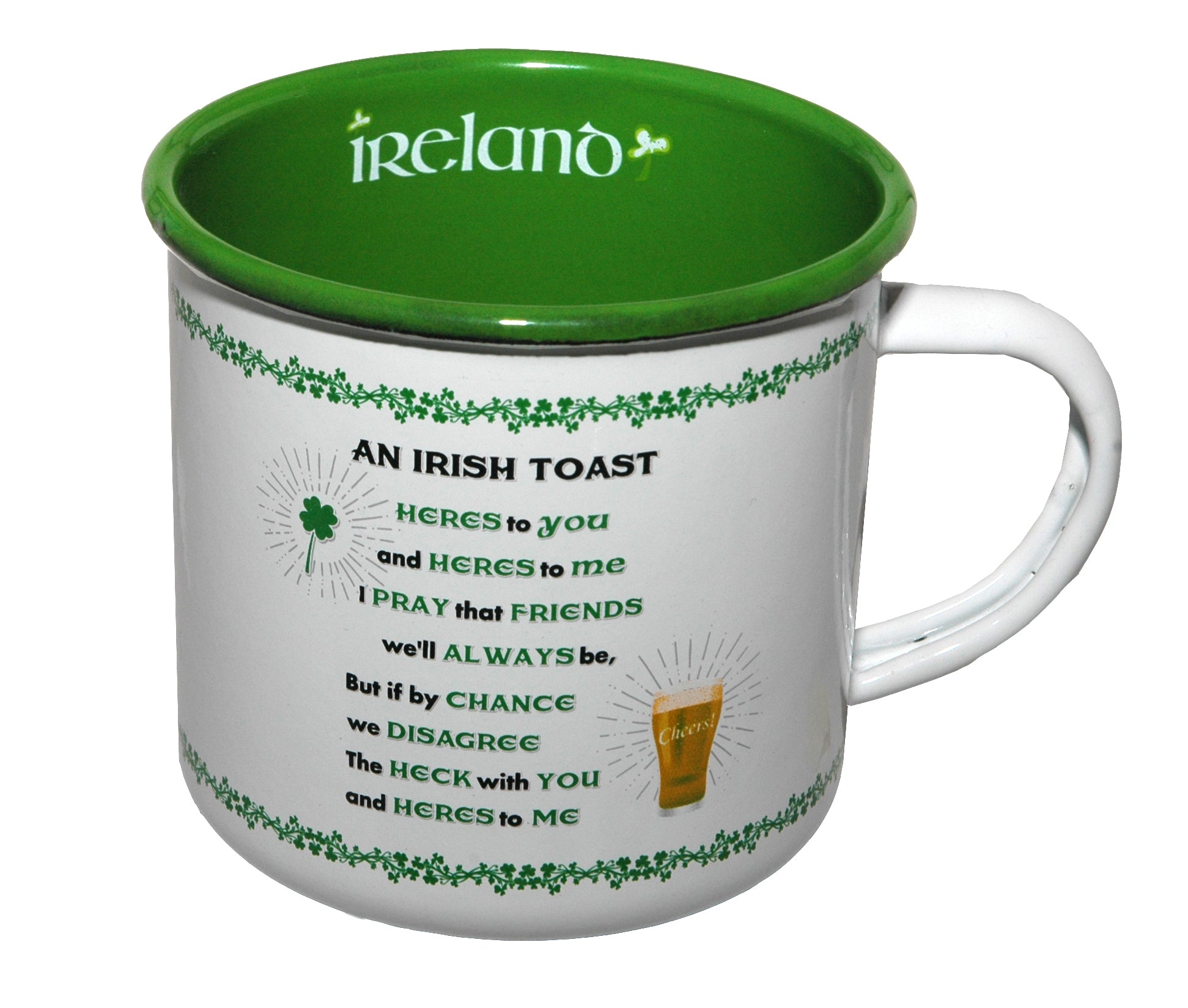 Enamel Mug - An Irish Toast