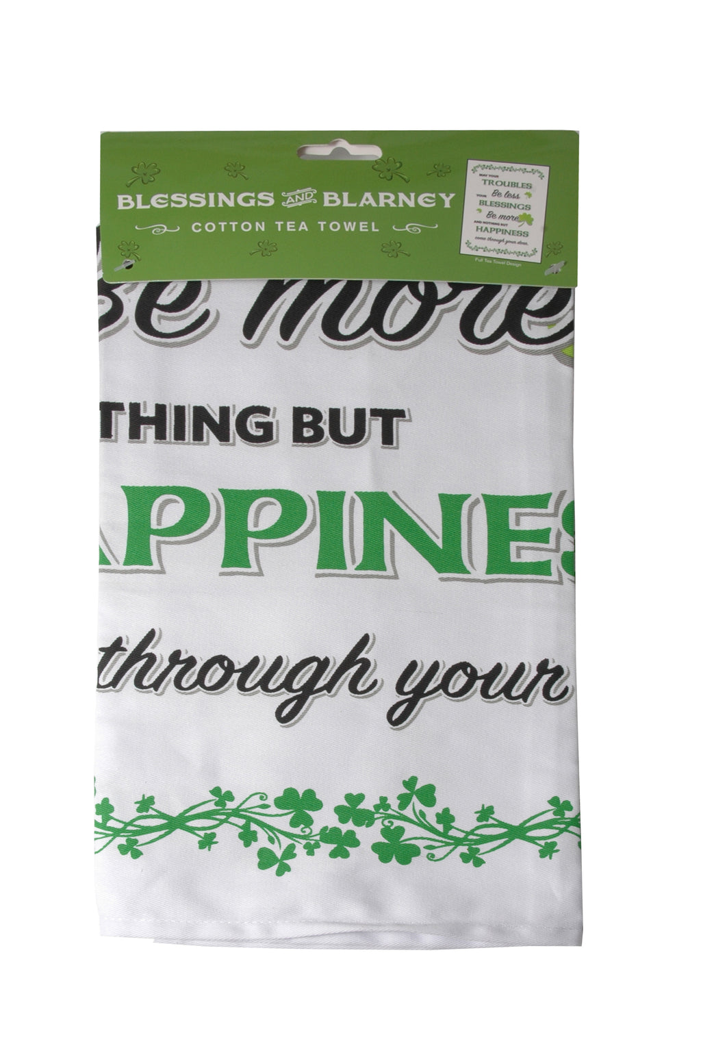Tea Towel, Cotton - Blessings, May your Troubles