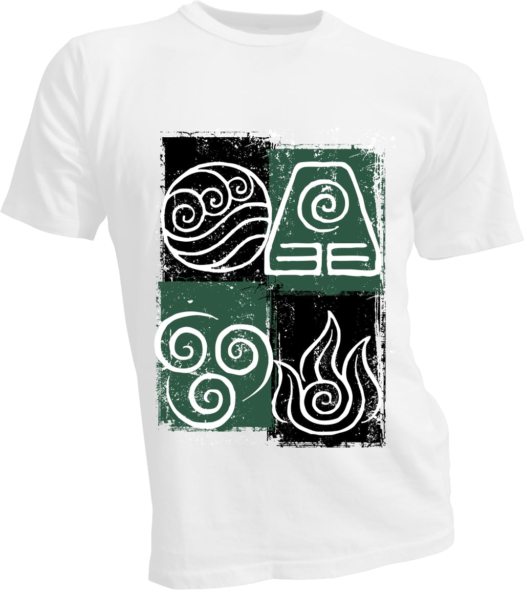 Four Elements White T
