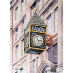 Easons clock, where stories begin