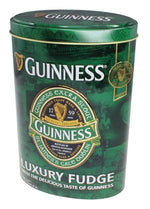 Guinness Oval Gift Tin of Fudge, Green Ireland label design, 200g