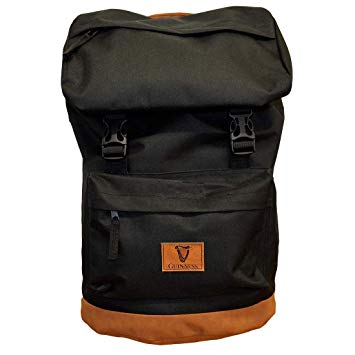 Guinness Backpack Black with Brown Suede Base