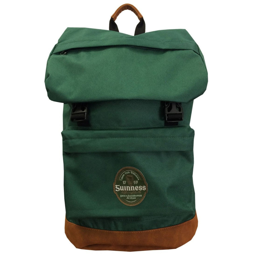 Guinness Backpack Green with Brown Suede Base