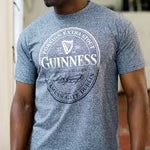 Guinness Grey Grindle Guinness Stamp T Shirt