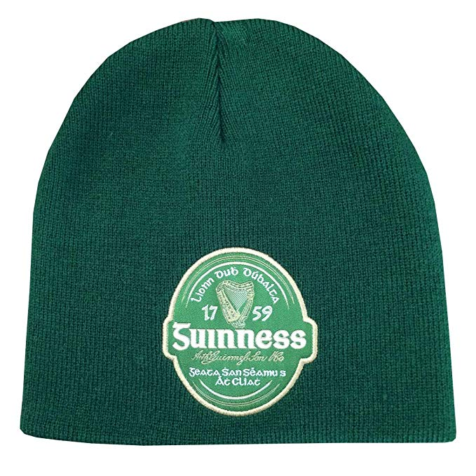 Guinness Beanie Hat, Green Colour