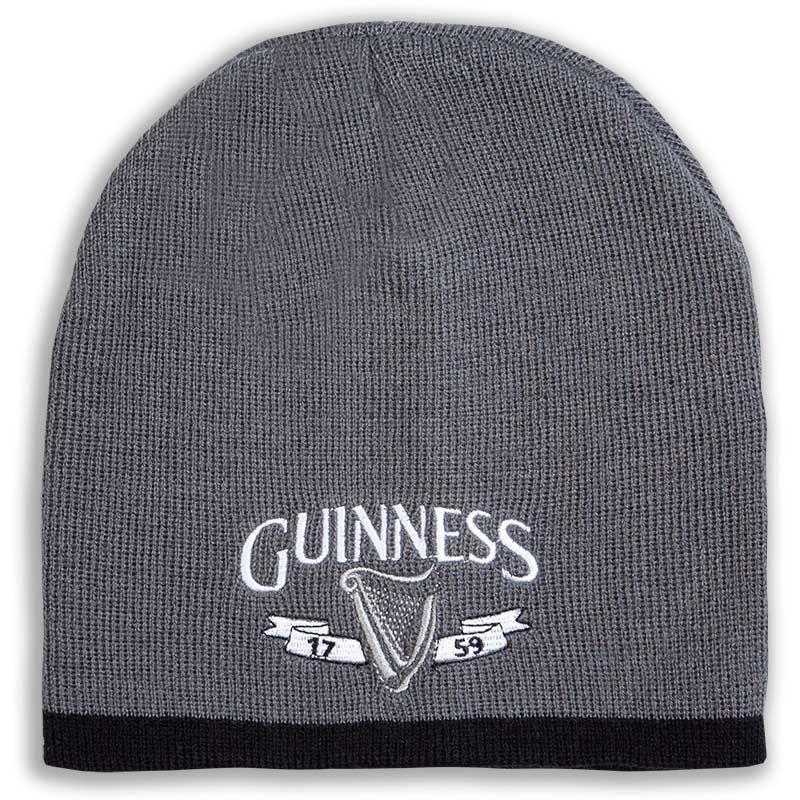 Guinness Beanie Hat, Grey