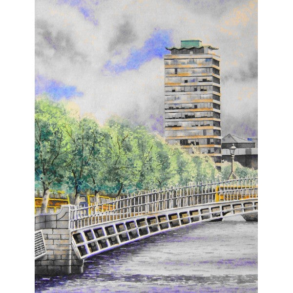 Ha'penny Bridge and Liberty Hall