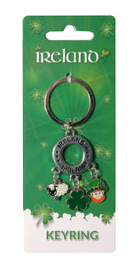 Key Ring, Ireland, Shamrocks, Sheep, Leprechauns, 10 options