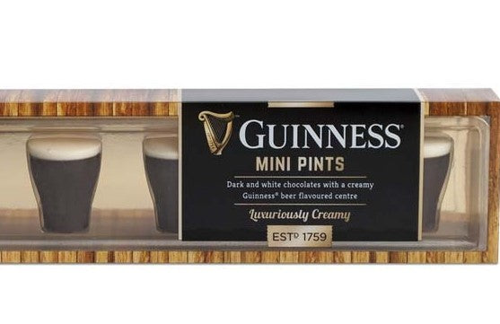 Guinness Mini Pints, dark and white chocolate