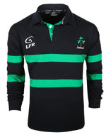 Ireland Rugby Shirt, navy with green stripes