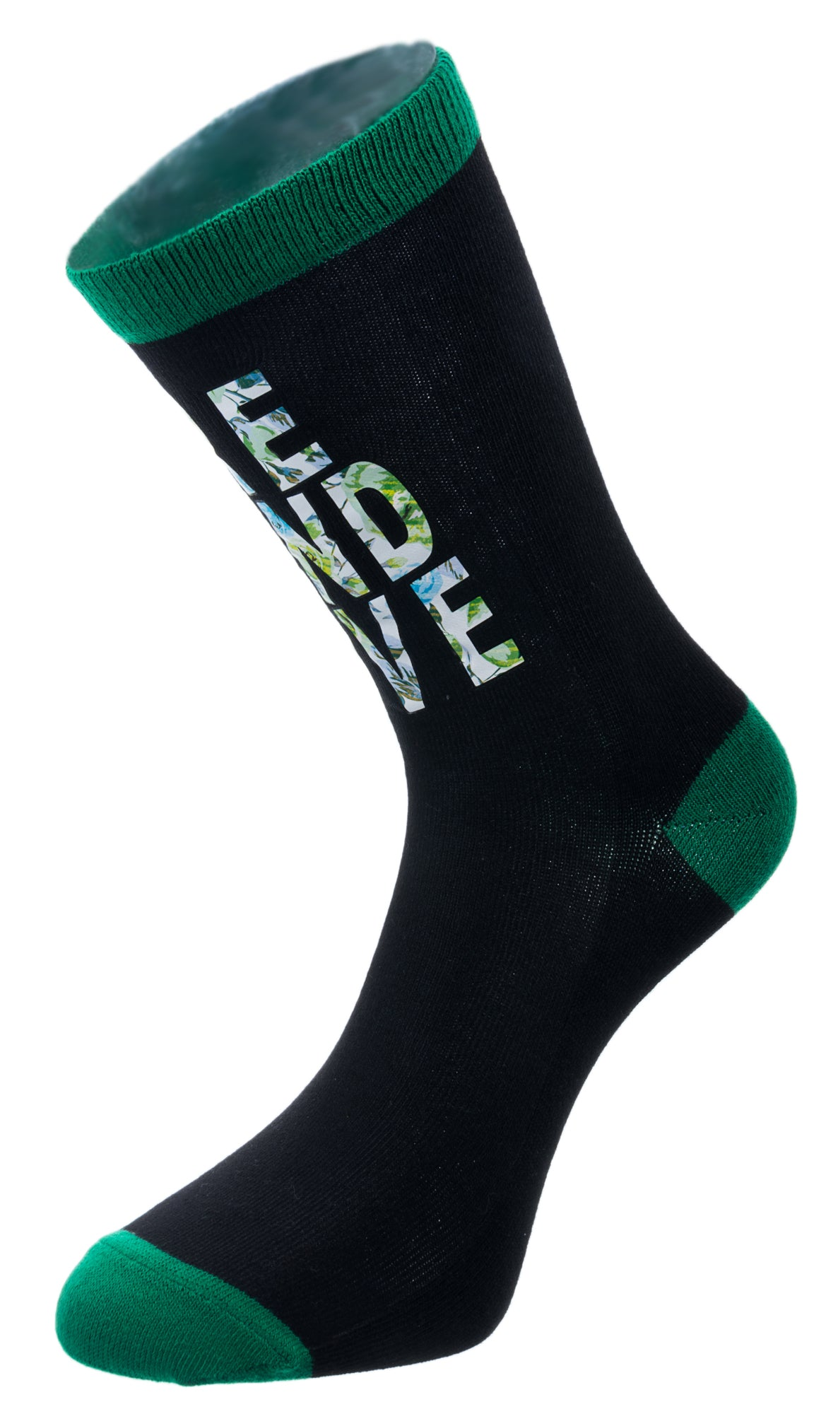 Socks, Ireland, black and green, Ireland Love - small size - Robin Ruth