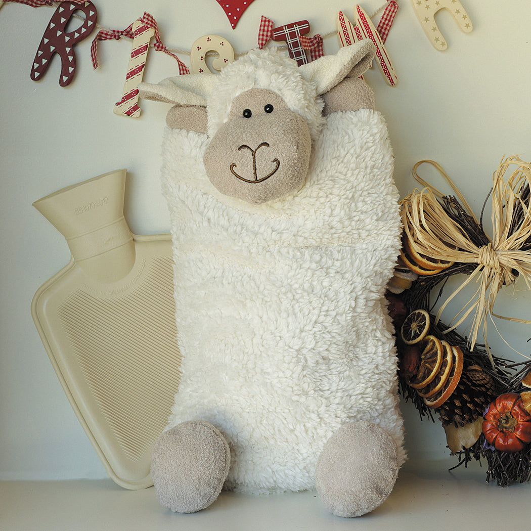 Soft Sheep Hot Water Bottle Cover