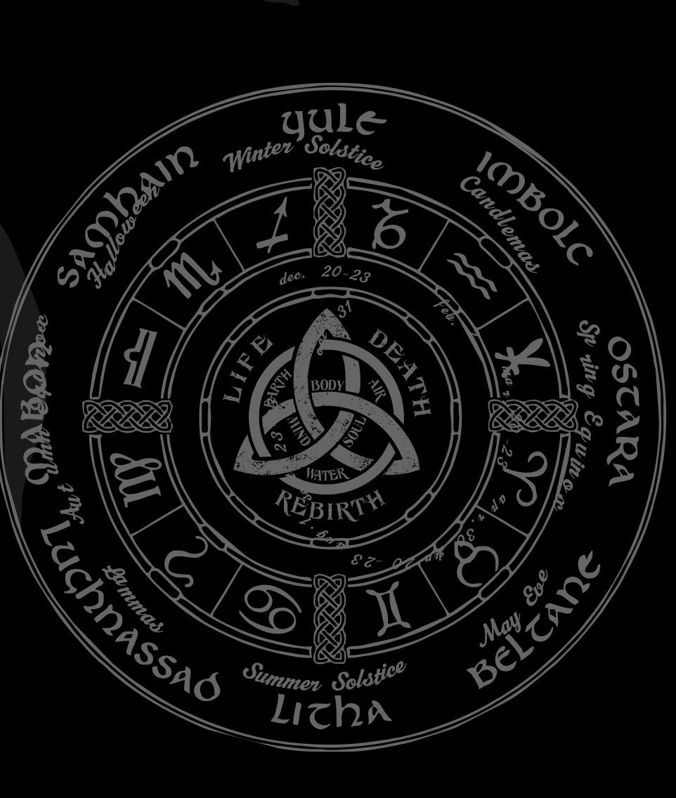 Celtic Wheel of the Year Hooded Sweatshirt
