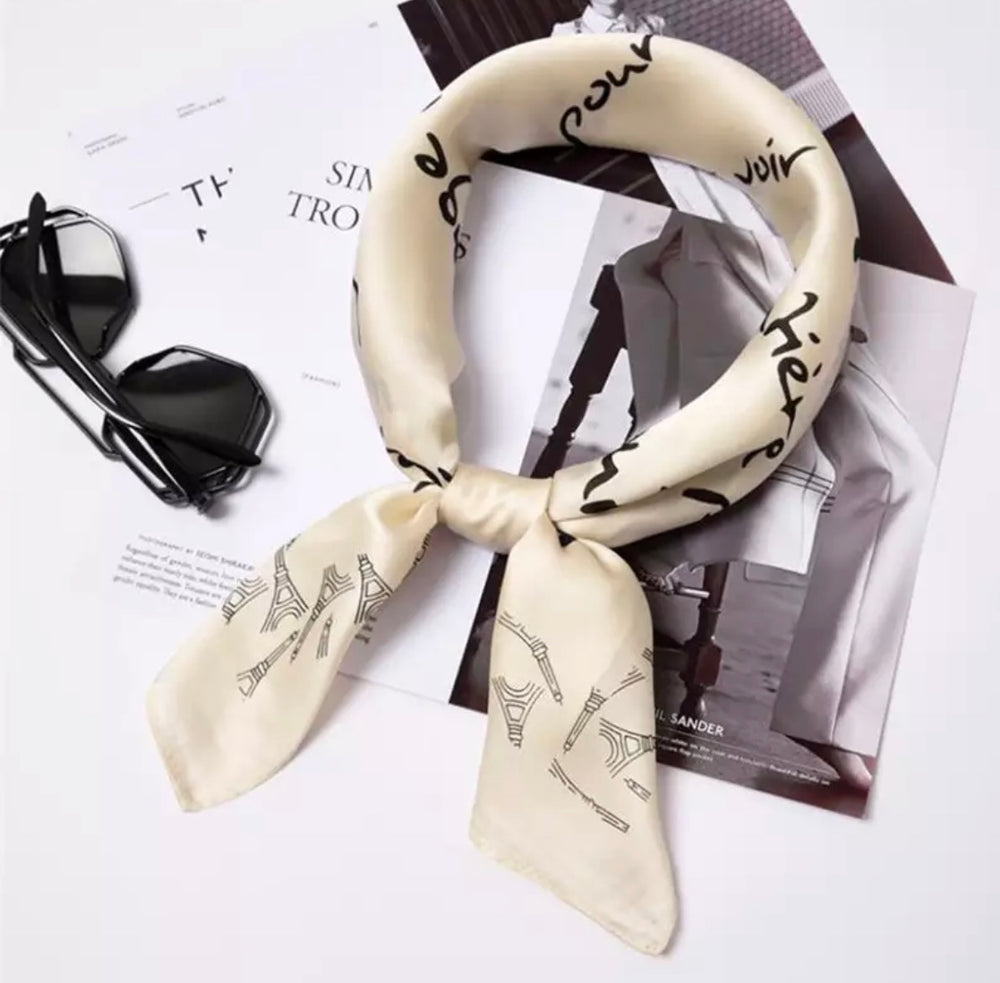 Love Letters - Silk Head Scarf