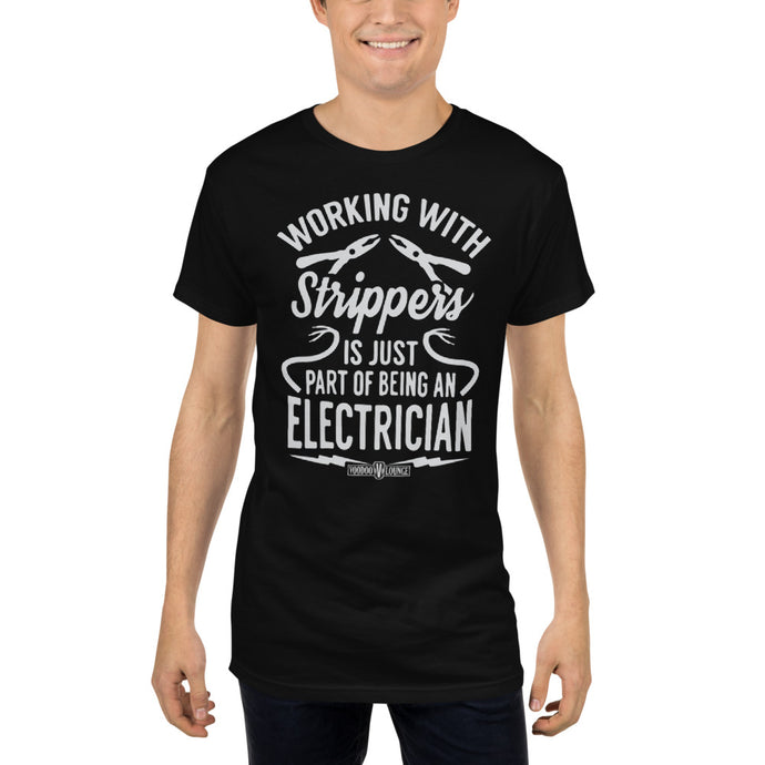 Electricians & Strippers Long Body Urban Tee