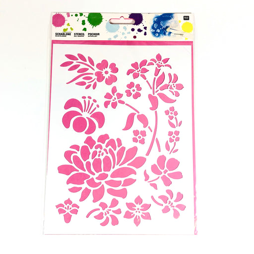 Blomster stencil