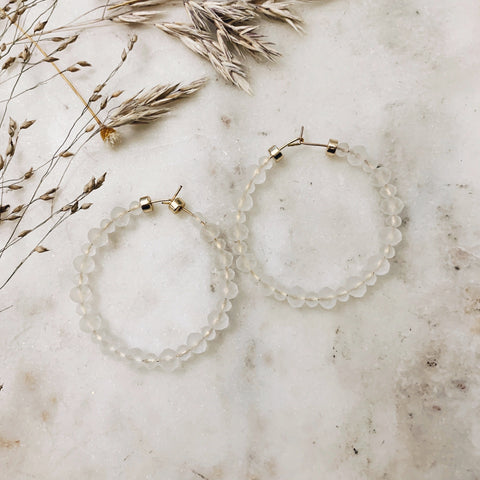 Translucent Beaded Hoops