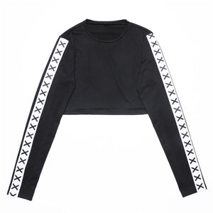 Lumbar navel long sleeve Sweatshirt