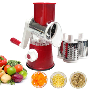 Vegetable Mandoline Slicer Rotary Drum Grater