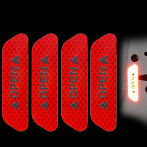 Car Door Reflective Sticker - Very Helpful To Traffic Safety, 4pieces