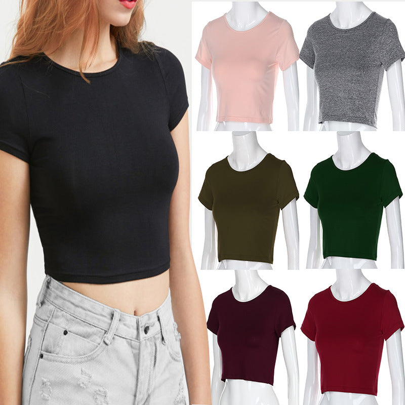 Navel short sleeve t-shirt