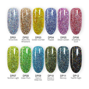 Holographic Glitter Long Lasting Dipping Nail Powders