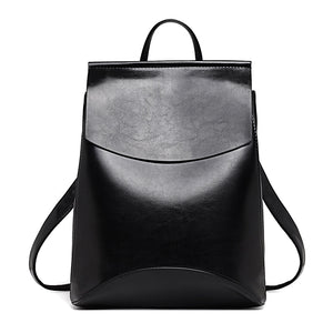 Women  Convertible High Quality Leather Backpack Purse