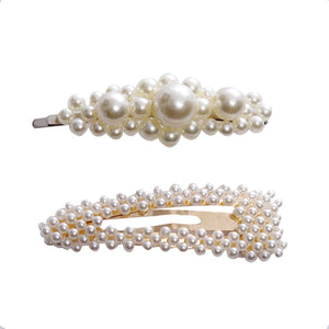 Elegant Pearls Hair Clips