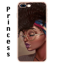 Load image into Gallery viewer, Afro Girls Black Women Art Silicone iPhone Case