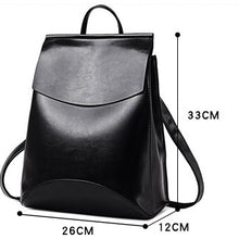 Load image into Gallery viewer, Women  Convertible High Quality Leather Backpack Purse