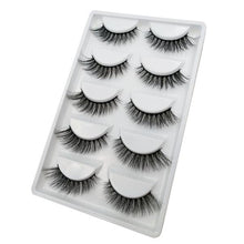 Load image into Gallery viewer, 3D Mink Full Strip Fake Eyelashes (5-Pairs)