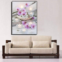 2019 Besondere Blume En Candles 5d Diamond Painting /Diamant Malerei Set VM09220