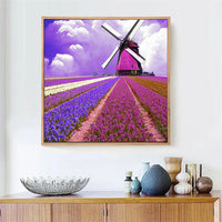 Traum Landschap Natur Lavendel 5d Diamond Painting /Diamant Malerei Set VM8139