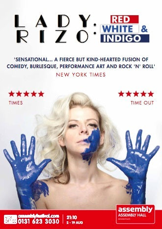 LADY RIZO COMING TO EDINBURGH FESTIVAL FRINGE