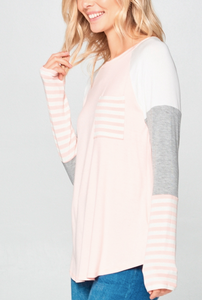 Mila Color Block Longsleeve