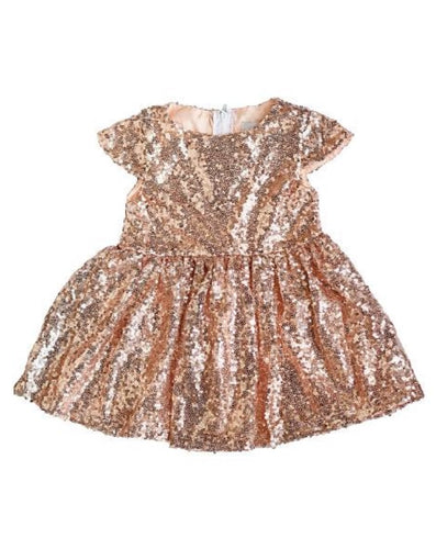 Rose Gold Sequin Holiday Dress