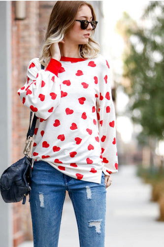 Flower Me With Hearts Longsleeve