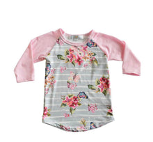 Load image into Gallery viewer, Mia Floral Raglan