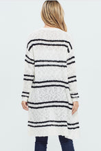 Load image into Gallery viewer, Henley Striped Cardigan