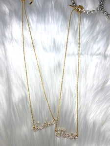 Name in ICE Necklace