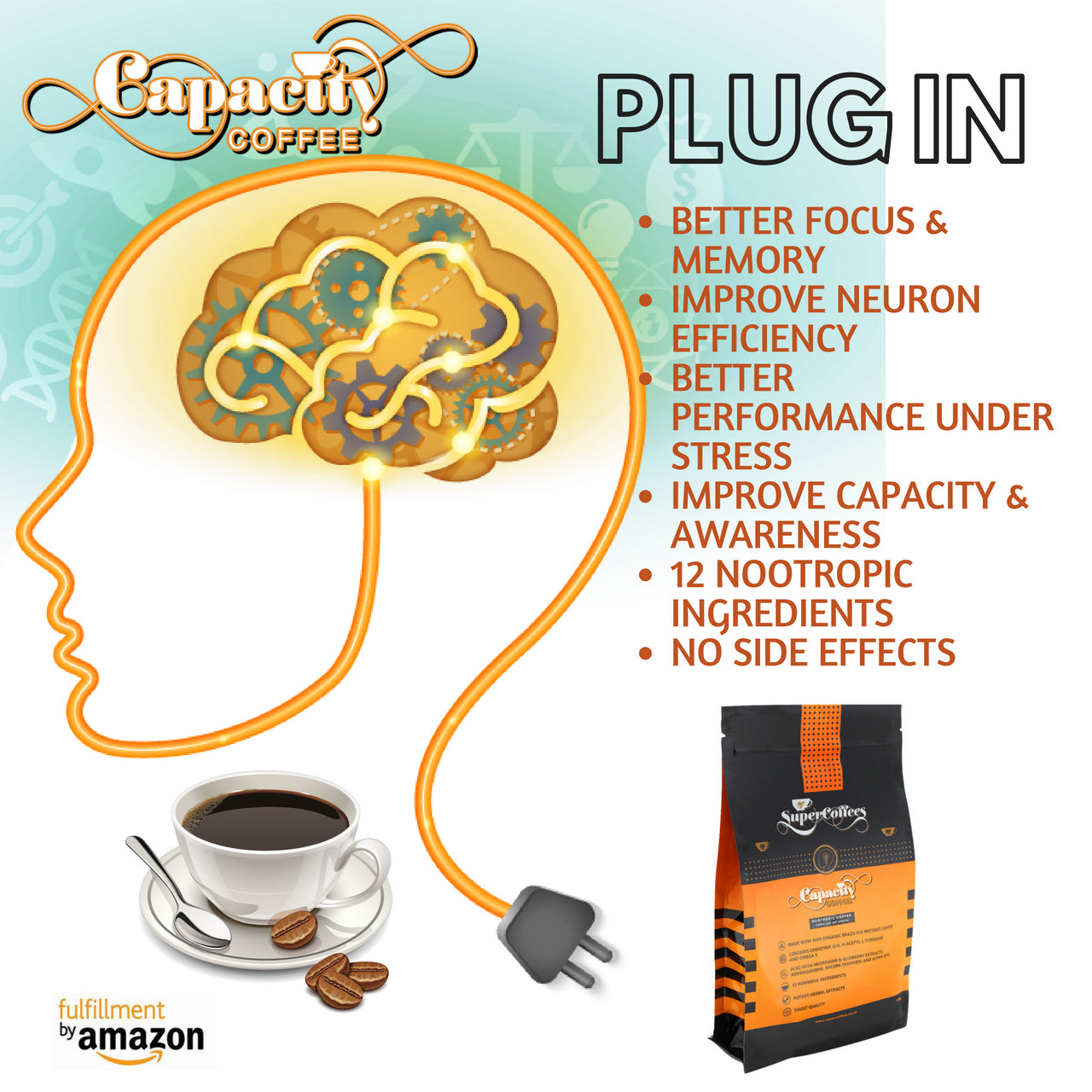 Capacity Coffe Nootropic Brain Boosting Coffee By Supercoffees