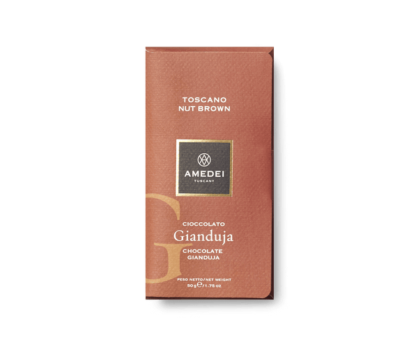 Amedei Amedei CLASSIC - Toscano Nut Brown - Gianduja Chocolate Bar | METAGROUP Limited