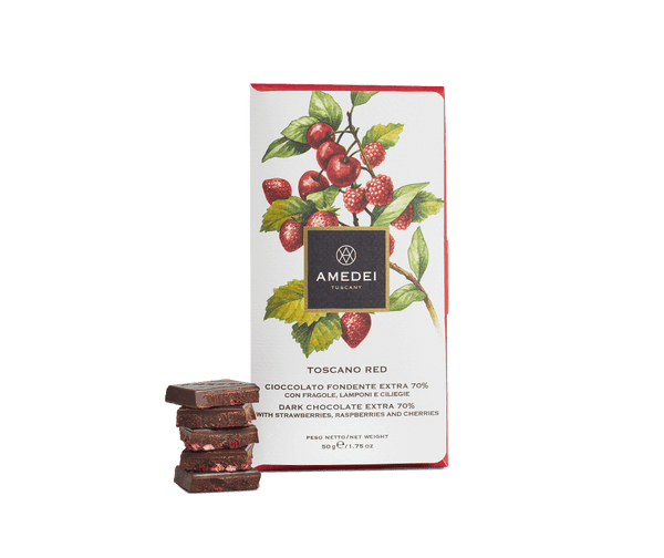 Amedei FRUTTI - Toscano Red - Dark Chocolate Bar with Red Fruits