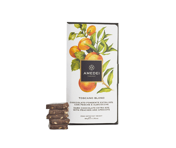 Amedei FRUTTI - Toscano Blond - Dark Chocolate Bar with Yellow Fruits