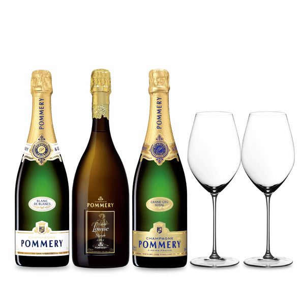 Pommery POMMERY PRESTIGE COLLECTION with Riedel Glasses | METAGROUP Limited