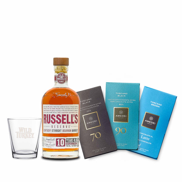 RUSSELL'S RESERVE 10 YO BOURBON & AMEDEI CHOCOLATE COLLECTION